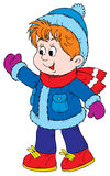 Walking toddler (vector). Vector clip-art / children's illustration for your design Stock Photography
