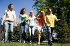 Walking together Royalty Free Stock Photo