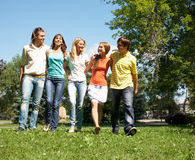 Walking together Royalty Free Stock Images