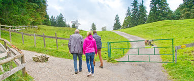 Walking together in bavaria Royalty Free Stock Image