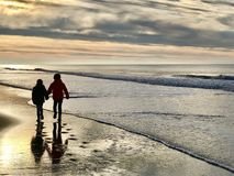Walking together Royalty Free Stock Photos