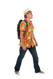 Walking tourist Royalty Free Stock Image