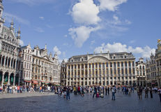 Walking tourists  in Brussels Royalty Free Stock Photos