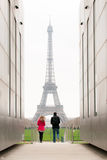 Walking toward the Tour Eiffel Royalty Free Stock Images