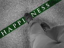 Walking Towards Happiness Stock Image