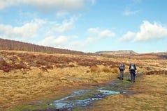 Walking Towards Higger Tor Through Padley Gorge, Derbyshire Royalty Free Stock Image