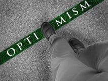 Walking Towards Optimism Stock Images