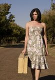 Walking towards portrait Royalty Free Stock Photography