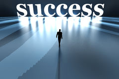 Walking towards Success Stock Images