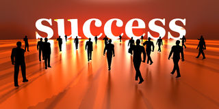 Walking towards Success Stock Photo