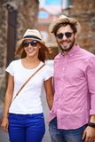 Walking in the town Royalty Free Stock Photography