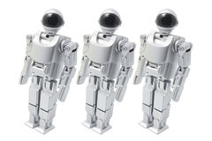 Walking Toy Robot Royalty Free Stock Images