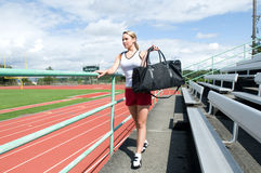 Walking at a Track Stock Images