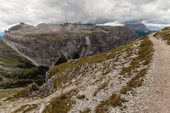 Walking track above Val Gardena, Dolomites Royalty Free Stock Photography