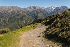 Walking track in Kaikoura Ranges Royalty Free Stock Photo