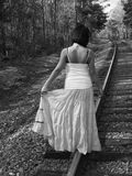 Walking on a track Stock Image
