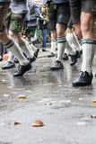 Walking in traditional outfit to Oktober Fest Royalty Free Stock Images