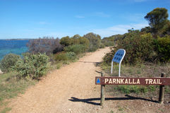 Walking trail. Parnkalla Trail in Port Lincoln, South Australia Royalty Free Stock Photo