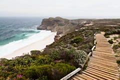 Walking trail along the coast Royalty Free Stock Photo