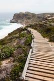 Walking trail along the coast Stock Photos