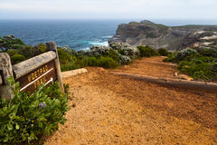 Walking trail along the coastline Stock Image