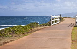 Walking Trail in Kapaa Stock Image