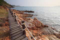 Walking trail in khao leam ya sea national park rayong eastern o Royalty Free Stock Images