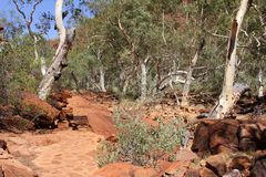 Walking trail in Kings Canyon, Watarrka National Park, Australia Royalty Free Stock Images