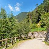 walking trail in the mountains Royalty Free Stock Photo