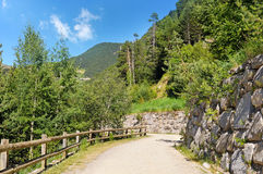 walking trail in the mountains Stock Image