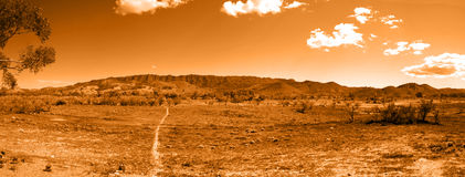 Walking Trail to Outback Hills Stock Photo