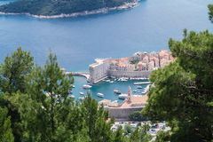 Sdr dubrovnik croatia. Walking Trail from the top of Mount Sdr to Dubrovnik with a great panoramic view stock photography
