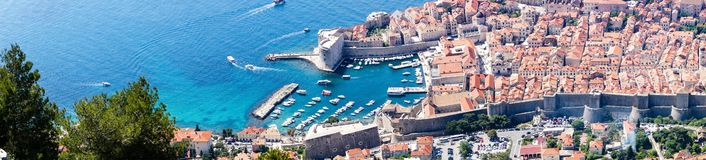 Sdr dubrovnik croatia. Walking Trail from the top of Mount Sdr to Dubrovnik with a great panoramic view royalty free stock photography