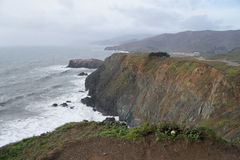 Walking trail view of cliffs, CA. Stock Photography