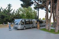 Walking train  in seaside park, Baku Stock Image