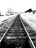 Walking the train tracks Stock Photography