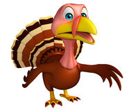 Walking Turkey  cartoon character Royalty Free Stock Photo