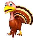 Walking Turkey  cartoon character Stock Image