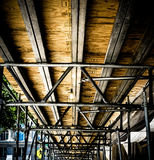 Walking underneath. A working platform Stock Photography