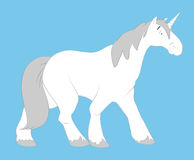 Walking Unicorn Royalty Free Stock Photography