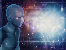 Walking through Universe vector illustration