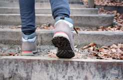 Walking up stairs_v Stock Photography