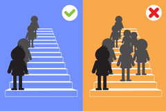 Walking up the stairs . Vector design 2015 royalty free illustration