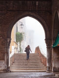 Walking Upstairs at a Rialto Arch Stock Images
