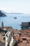 Walking on the Walled City of Dubrovnic in Croatia Europe. Dubrovnik is nicknamed `Pearl of the Adriatic. Dubrovnik is one of the most beautiful towns in the Stock Photos