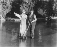 WALKING ON WATER Royalty Free Stock Photo
