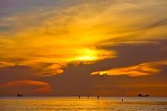 Walking on water (Sunrise, Atlantic ocean coast). Walking on water (Sunrise, Atlantic ocean coast, Miami, FL Royalty Free Stock Photography