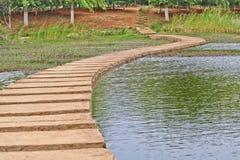 Walking way around swamp. In Kunming Royalty Free Stock Photo