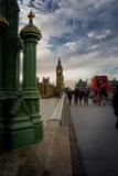 Walking on westminster bridge royalty free stock photos