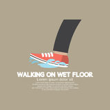 Walking On Wet Floor Stock Image